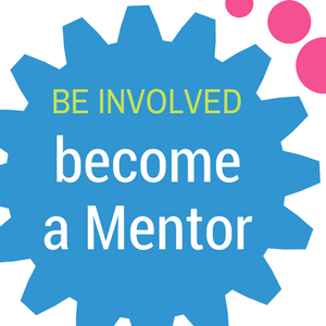 Be involved, become a mentor (button)