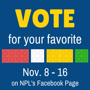 VOTE for your favorite LEGO creations Nov. 8 - 16 on Facebook