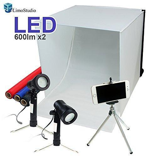 Photo kit: tent, lights, backdrops, phone stand