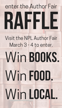 Visit the Author Fair, enter the raffle for books and local food.