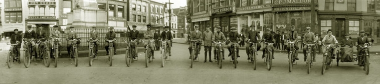 Antique Photograph of Bikes