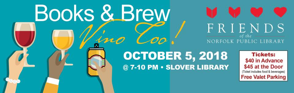 Friends of the Library Books and Brew fundraiser 2018