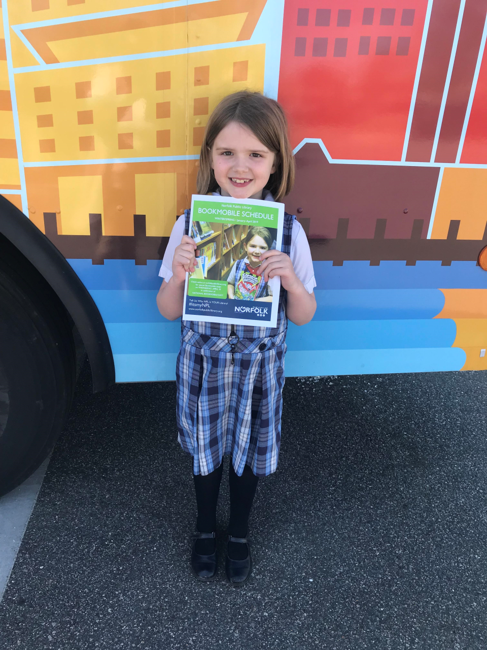 Norfolk's young readers love our books on wheels.