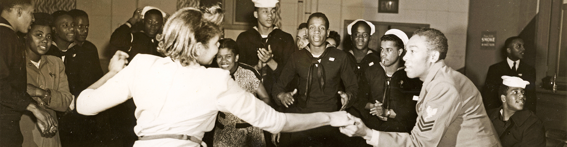 Historic image: couple dancing at Smith St. USO