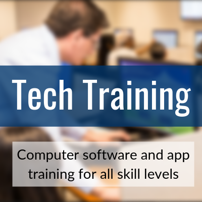 Tech Training: Computer software and app training for all skill levels